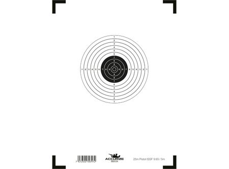 Wymienna tarcza - pistol 25m ISSF 9.65/5m